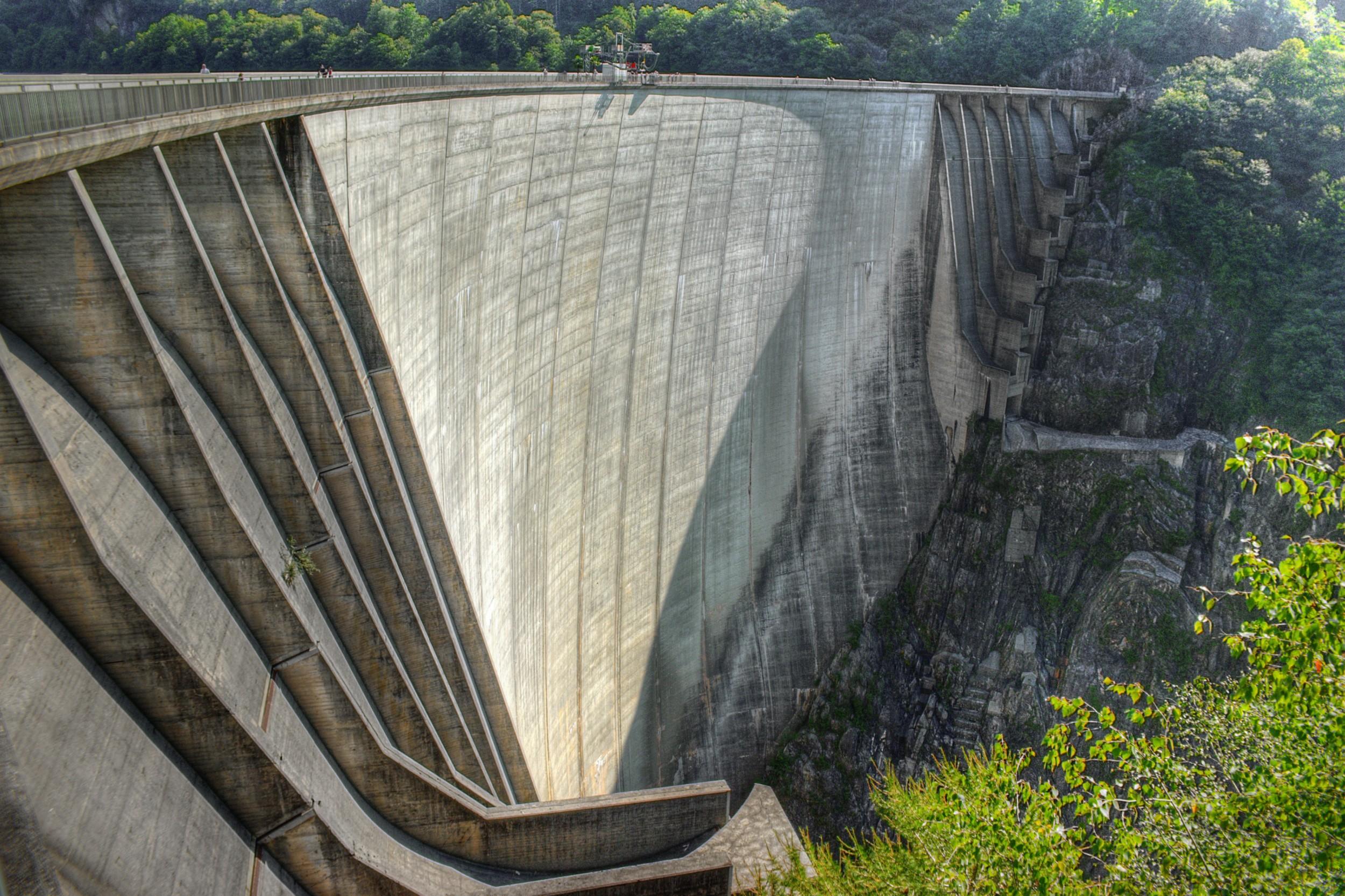 The Contra dam in the Val Verzasca, canton of Ticino.
