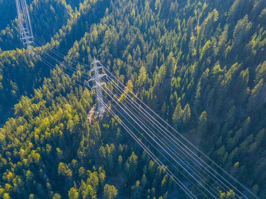 Hybrid overhead power lines for Switzerland