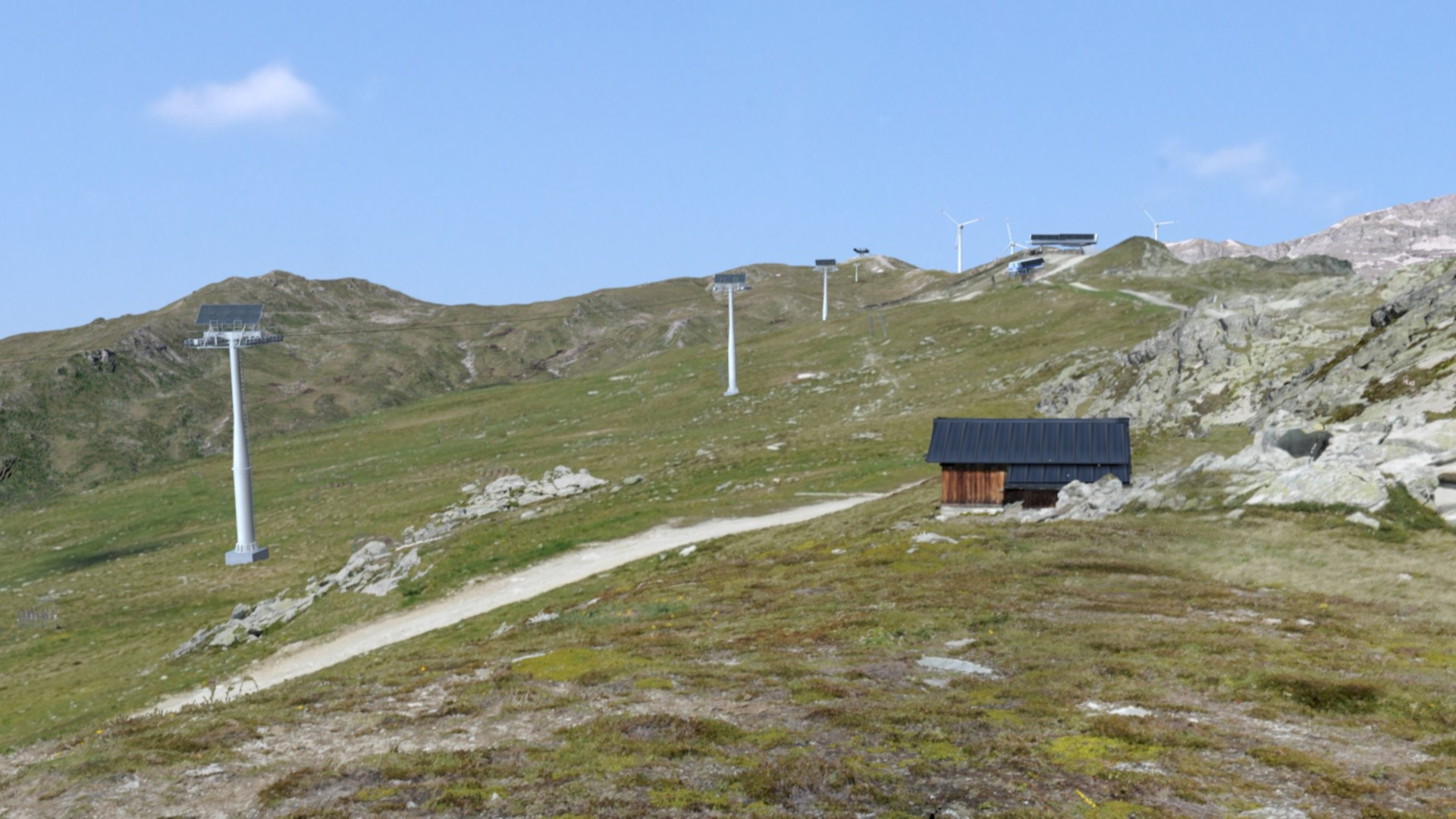 Renewable energy systems in landscapes that already contain infrastructures are accepted by the Swiss population.